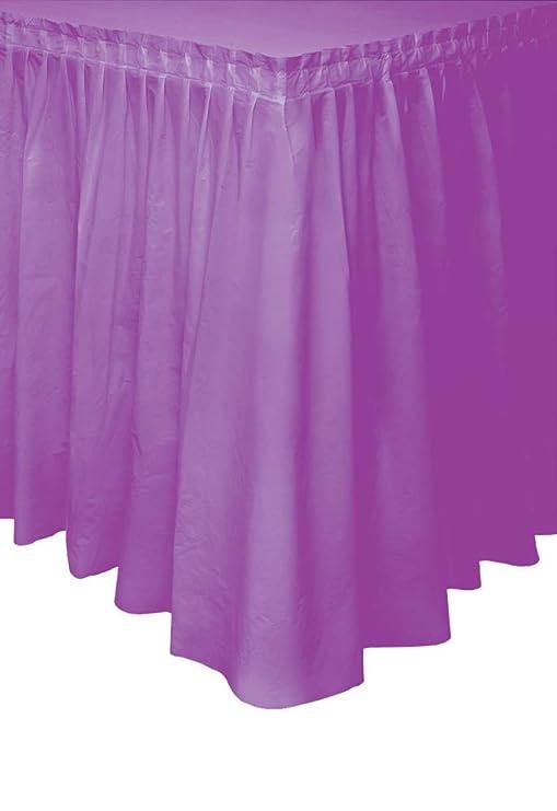 Unique Party- Falda de mesa de plástico, Color morado, 420 cm ...