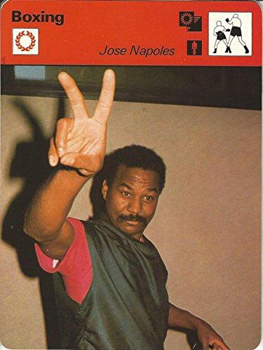 1977-79 Sportscaster Card, 10.13 Boxing, Jose Napoles, Cuba (1977 Boxing Card)