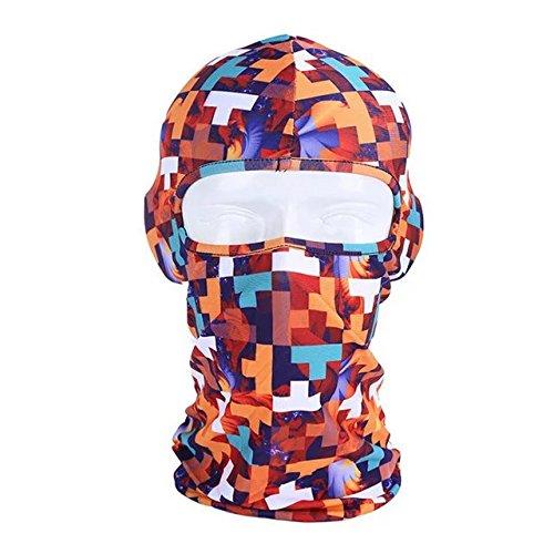 Ezyoutdoor Fashionable Lycra Balaclava Cycling Full Face Mask Fantastic Thin Outdoor Ski Neck Hood (Face Painting For Skeleton Costume)