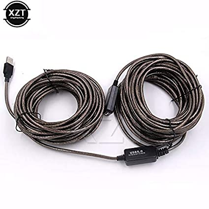 Computer Cables USB Cable Male to Female USB 2.0 Extension Cable High Speed Wire Data Adapter Connector Cable Length: 10m