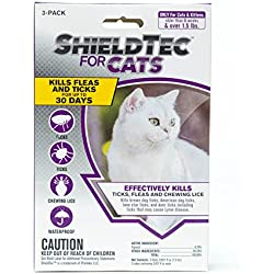 ShieldTec Flea and Tick Prevention for Cats,3 Months Protection (3 Dose, Over 1.5 lbs)