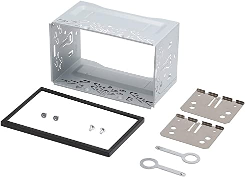 Yozhanhua - Caja de instalación para DVD, Marco de Radio estéreo de Metal Duradero de Doble Panel de Radio de 2 DIN, Marco de Montaje de Jaula: Amazon.es: Electrónica