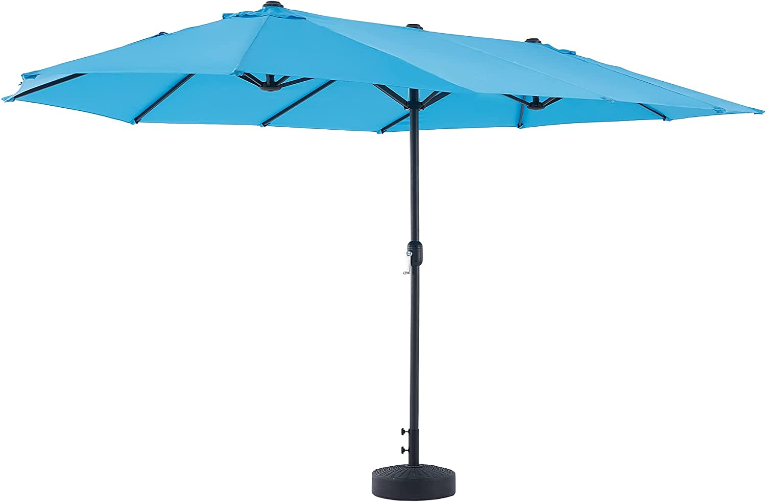 VONLUCE 15ft Double-Sided Patio Umbrella with 12 Steel Ribs 9ft Aluminum Pole...