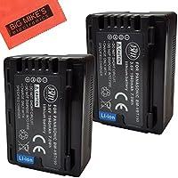 BM Premium 2-Pack of VW-VBT190 Batteries for Panasonic HC-V250, HC-V380, HC-V510, HC-V520, HC-V550, HC-V710, HC-V720, HC-V750, HC-V770, HC-VX870, HC-VX981, HC-W580, HC-W850, HC-WXF991 Camcorder