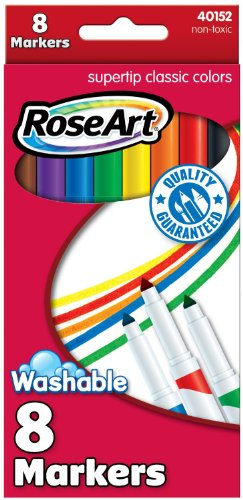 RoseArt Washable Classic SuperTip Markers 8-Count Packaging May Vary (40152VA-24)