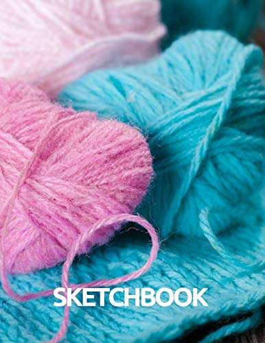 Sketchbook: Crocheting Crafts Hobby Women Girl Gift, Blank Unlined Unruled Drawing Sketch Writing Book, 150 Pages 8.5x11 inches