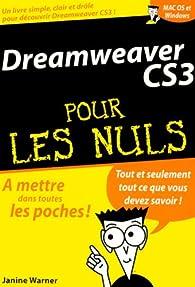 Dreamweaver CS3 pour les Nuls par Janine Warner