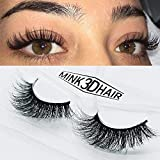 3D Mink False Eyelashes Mink Fur Long Thick Hand-made Reusable Eyelashes Natural Look for Women's Makeup 1 Pair Pack