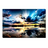 Startonight Canvas Wall Art Multicolor Sky II, Dual View Surprise Artwork Modern Framed Ready to Hang Wall Art 100% Original Art Painting 23.62 X 35.43 inch
