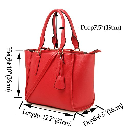 Stunning Celebrity Large Fashion Ladies Designer Handbag Women's Tote Black Bag Shoulder fqU0wt0I
