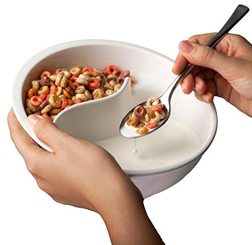 Obol - The Original Never Soggy Cereal Bowl/With The Spiral Slide Design 'n Grip - Med Ivory Discontinued color