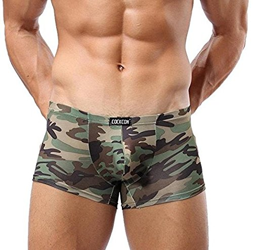 849386a9c3 Loyalt Military Men s Camouflage Boxer Briefs Trunks Underwear Sexy Shorts  Breathable Flat Underwear Knickers Soft Cotton Bulge Pouch Underpants Trunks