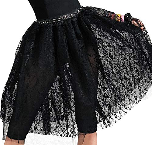 AMSCAN 80's Pop Hallowwen Skirt for Women, One Size