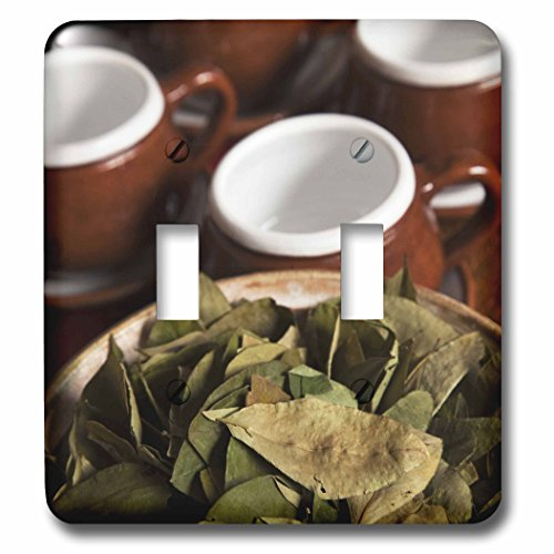 3dRose lsp_86965_2 Peru Cuzco Coca Leaves and Tea Cups Sa17