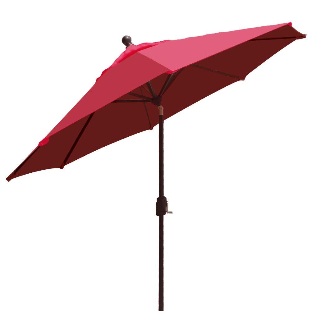 EliteShade 9Ft Market Umbrella Patio Outdoor Aluminum Backyard Table Umbrella (Burgundy) by EliteShade (Image #2)