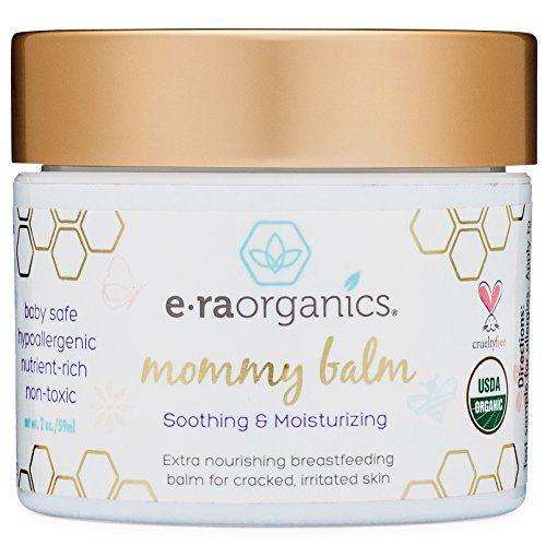 Soothing Nipple Cream for Breastfeeding Moms 100% Natural, USDA Certified Organic Healing Balm for Chapped, Irritated, Sensitive Skin Care. Non-GMO, Baby Safe Breastfeeding Cream Era-Organics (The Best Nipple Cream For Breastfeeding)