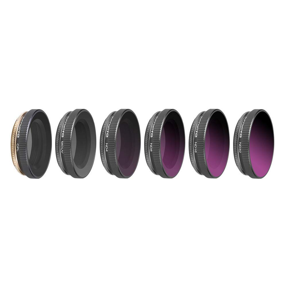 Zhaowei 6PC MCUV//CPL//ND4////ND8//ND16//ND32 Camera Lens Filters for DJI OSMO Action Camera Multicolor