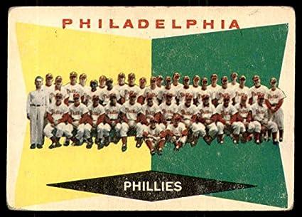 Amazoncom 1960 Topps 302 Phillies Team Checklist 353 429 G Vg