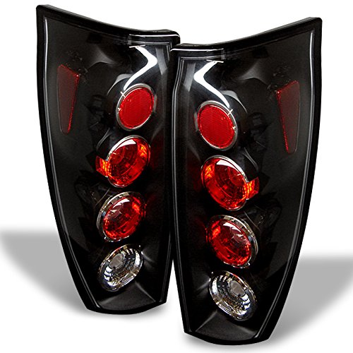 For 02-06 Chevy Avalanche Pickup GMT800 Rear Black Tail Lights Brake Lamps Taillamps Replacement