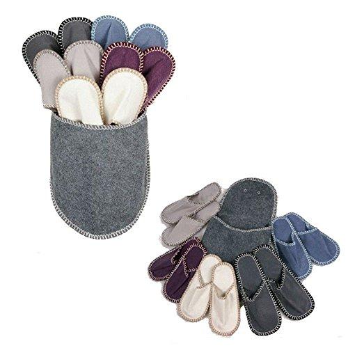 Pantouffles 5 colorées d'appoint chaussons invités paires z7Arzw