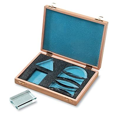 United Scientific Acrylic Prisms in Wooden Storage Box (Set of 6) from United Scientific
