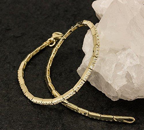 ASS en or 585Femme Bracelet avec Oxyde de Zirconium-18,5cm, brillant 14K
