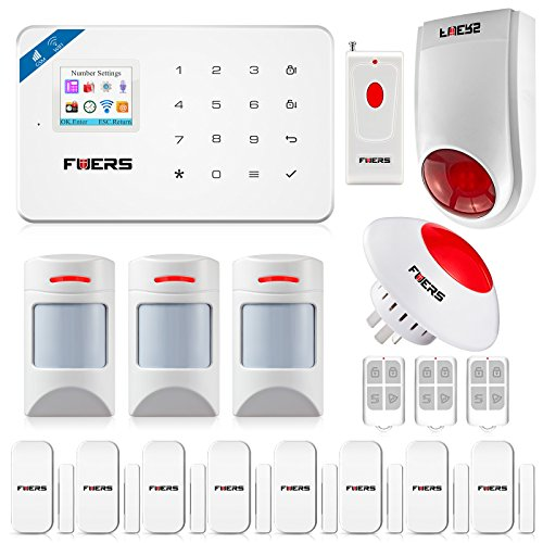 Fuers W18 GSM + WIFI Security Alarm Wireless DIY Home and Business Security System Kit Easy to Install Security Alarm System Support IOS Android Smart Phone APP Control by FUERS