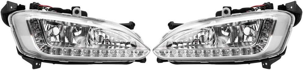 Akozon Daytime Running Light 1 Pair Car DRL Fog Lamp Cover for Santa Fe//IX45 2013-2015