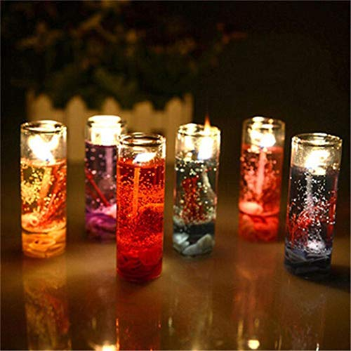 SUNBIBE12Pc Ocean Candle Transparent Crystal Glass Bottles Aromatherapy Smokeless Jelly Wax Wedding Gel Candles,Table Romantic Scented Shells Jelly Candles Sets for Valentine Gifts Birthday Gift