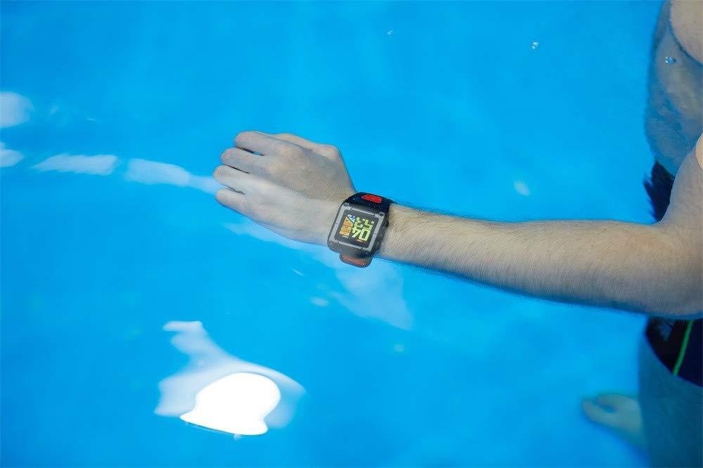Lovewe Professional IP68 Waterproof Swimming Smart Watch Fitness Tracker Bluetooth GPS Wristband Colorful UI (Gray) by Lovewe_Smart Watch (Image #6)