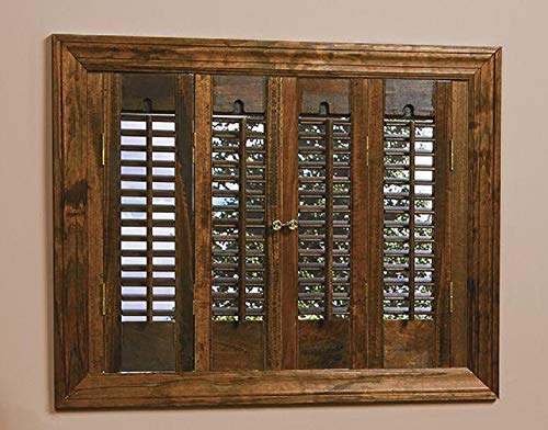 HOMEbasics Traditional Real Wood Walnut Interior Shutter (Price Varies by Size) (Best Price Plantation Shutters)