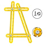 Angle Measurement Tool 4 Sided Adjustable Square Angle Tool Measure Layout Tools Perfect for Carpenters Craftsmen Handymen Engineers DIY-ers Home Industry