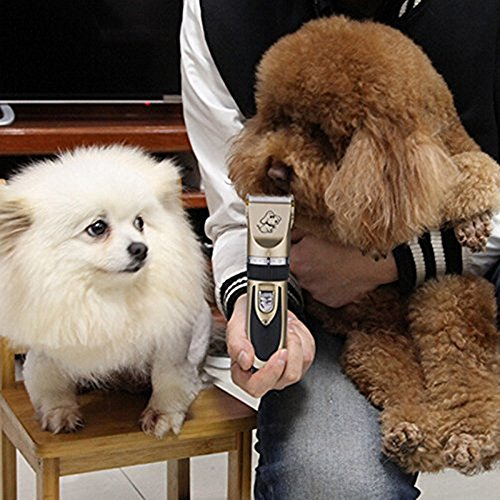 Ltuotu Rechargeable Cordless Pet Grooming Clippers-- Professional Pet Hair Clippers with Comb Guides for Small Medium & Large Dogs Cats and Other House Animals,Pet Grooming Kit by Ltuotu (Image #1)