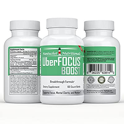 #1 All-Natural Nootropic Stack - Enhances Brain Function to Improve Focus, Memory, and Mental Clarity | Super Ginkgo Biloba complex with St. Johns Wort & L-Glutamine | Moneyback Guarantee (60 cap/bottle), boost your brain power TODAY!