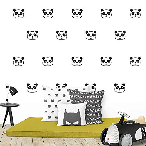 54pcs Cute Panda Wall Decals Removable Vinyl Wall Stickers for Nursery Room Baby Kids Boys Girls Bedroom Wall Decoration