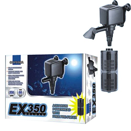 Odyssea EX 350 DX Internal Filter Powerhead Aquarium Water Pump - Pump Submersible Venturi