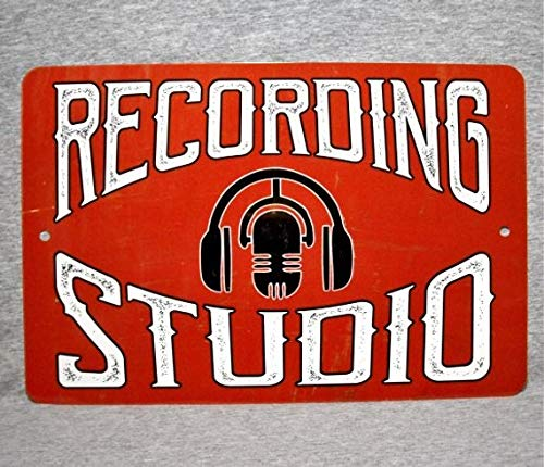 (ChristBess Metal Sign Recording Studio Sound Mixing Audio Engineer Music Technician Sound Control Room Aluminum Garage Man cave Wall Plaque)