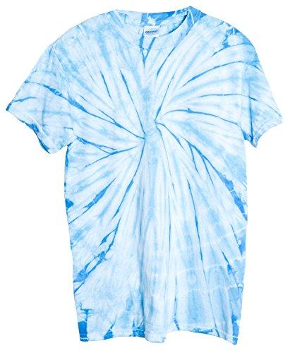 (Ragstock Tie Dye T-Shirt, Spider-Baby-Blue - L)