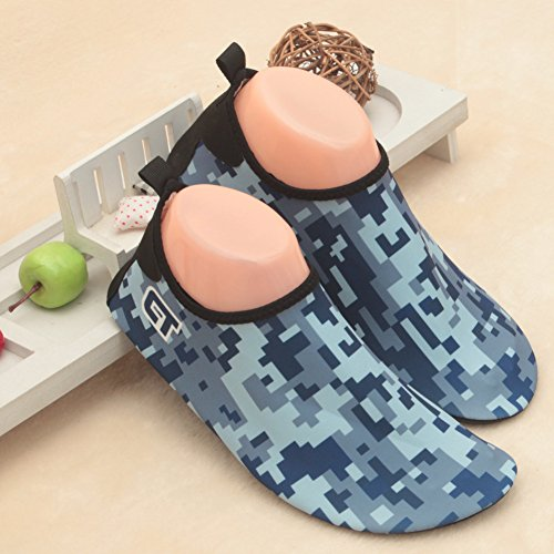 SENFI leichte Quick-Dry Wasser Schuhe für Wassersport Strand Pool Camp (Männer, Frauen, Kinder) M.blau
