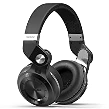Businda T2+ Over-Ear Bluetooth Headphones with Mic TF Card FM Radio and Support 3D Stereo Bass Music for PC Laptop Smartphones