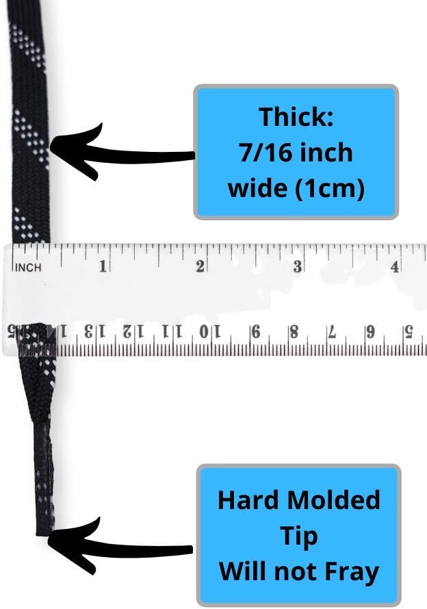 zechy Hockey Laces Unwaxed Non Waxed Hockey Skate Laces 72, 84, 96, 108, 120, 130 Sizes One Pair