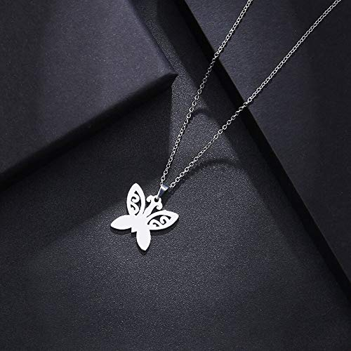 Stainless Steel Tattoo Butterfly Shaped Necklace, Bracelets, Earrings Jewelry Sets | for Women | Lover's Engagement Jewelry