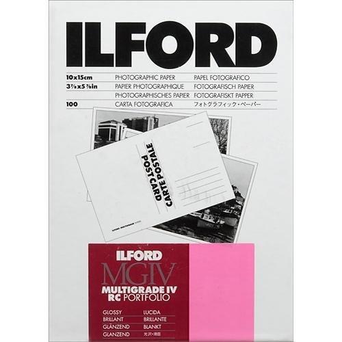 Ilford Multigrade IV RC Portfolio Printed Postcard Size Black/White Paper, 255gsm, 4x6'', 100 Sheets, Glossy