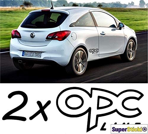Supersticki Opel Performance Center Opc Auto Aufkleber 2 Stück Ca 30 Cm Aufkleber Sticker Decal Aus Hochleistungsfolie Aufkleber Autoaufkleber Tuningaufkleber Racingaufkleber Rennaufkleber Auto
