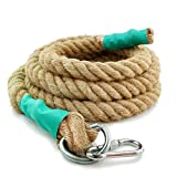 Aoneky Gym Climbing Ropes (Brown, 1.5'' x 15ft)