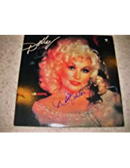 "* DOLLY PARTON * gorgeous signed ""Burlap and Satin"" album cover / UACC RD # 212"