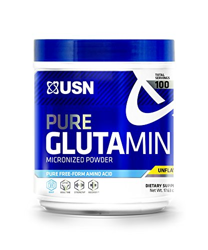 USN Pure Micronized Bioavailable Glutamine Powder, Unflavored, 500 Gram
