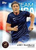 Abby Wambach trading card (United States Olympic Team Women Soccer) 2016 Topps #40 Gold Medal Edition