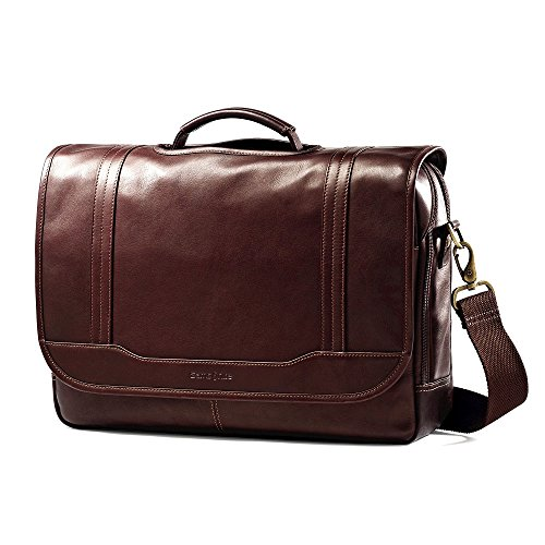 Samsonite Durham Colombian Leather Briefcases Brown by Samsonite