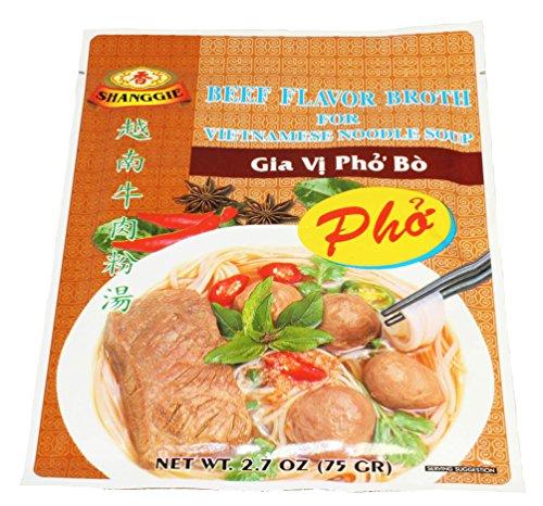 Vietnamese Beef - Shanggie Beef Flavor Broth for INSTANT Vietnamese Noodle Soup (3 PACKS)